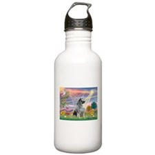 Cloud Angel/Keeshond #2 Water Bottle