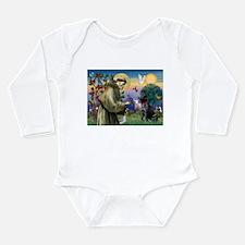 St Francis / Lab (black) Long Sleeve Infant Bodysu