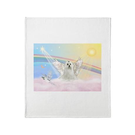 Maltese Angel (C) Throw Blanket