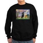 Cloud Angel / Miniature Pinsc Sweatshirt (dark)
