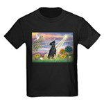 Cloud Angel / Miniature Pinsc Kids Dark T-Shirt