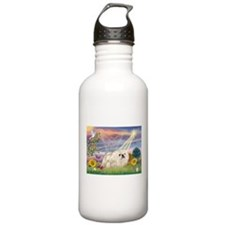 Cloud Angel & White Peke Water Bottle