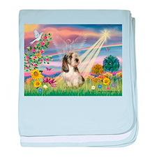 Cloud Angel & PBGV baby blanket