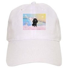 Angel/Poodle(blk Toy/Min) Baseball Cap