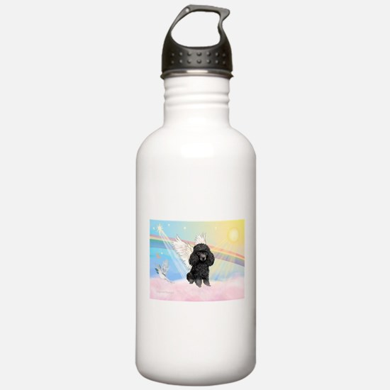 Angel/Poodle(blk Toy/Min) Water Bottle