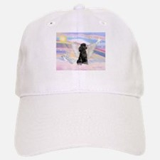 Angel/Poodle(blk Toy/Min) Baseball Baseball Cap