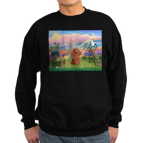 Cloud Angel/Poodle (Apricot) Sweatshirt (dark)