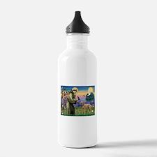 St Francis / Poodle Std (a) Water Bottle