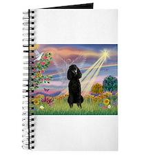Cloud Angel Black Poodle Journal