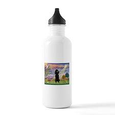 Cloud Angel Black Poodle Water Bottle