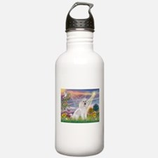 Cloud Angel White Poodle Water Bottle