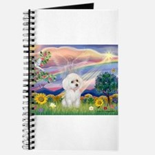 Cloud Angel & White Poodle Journal