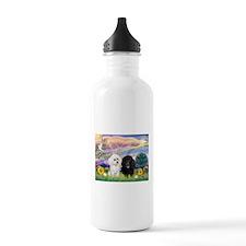 Cloud Angel & 2 Poodles Water Bottle