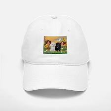 Two Angels/2 Poodles Baseball Baseball Cap