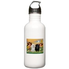 Two Angels/2 Poodles Water Bottle