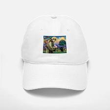 St Francis / Poodle(blk min) Baseball Baseball Cap