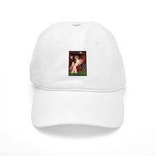 Seated Angel / Pug (blk) Baseball Cap