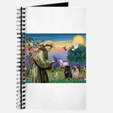 St. Francis & Pug Pair Journal