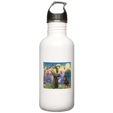 St Francis / Rottweiler Stainless Water Bottle 1.0