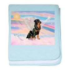 Clouds / Rottie baby blanket