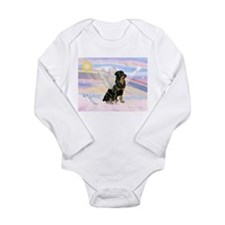 Clouds / Rottie Long Sleeve Infant Bodysuit