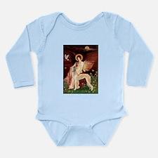 Seated Angel / Saluki Long Sleeve Infant Bodysuit