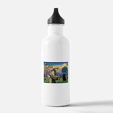 St Francis / Schipperke Water Bottle