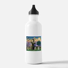 St Francis & Schnauzer (#5) Water Bottle