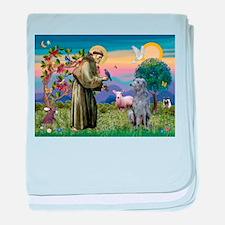 St Francis Deerhound baby blanket
