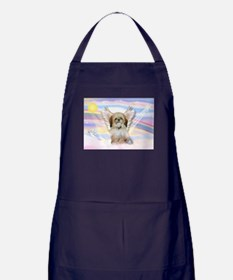 Angel Shih Tzu in Clouds Apron (dark)