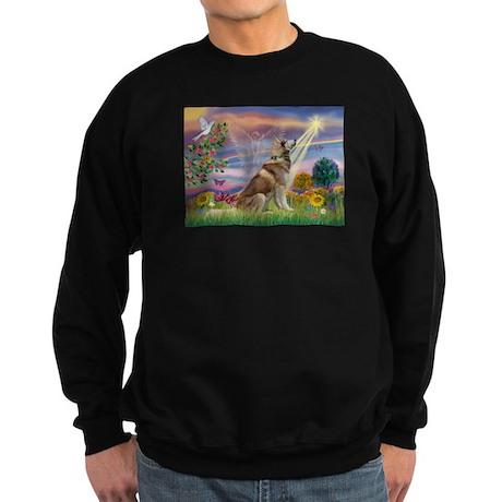 Cloud Angel & Husky Sweatshirt (dark)