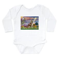 Cloud Angel & Husky Long Sleeve Infant Bodysuit