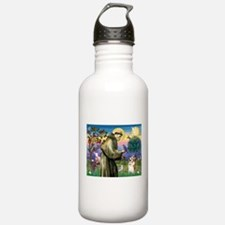 St Francis / Welsh Corgi (p) Water Bottle