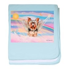 Yorkie (#17) in Clouds baby blanket