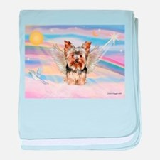 Yorkie (#17) in Clouds baby blanket