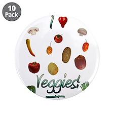 "I Heart Veggies 3.5"" Button (10 pack)"