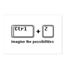 Ctrl + Z Postcards (Package of 8)