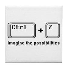 Ctrl + Z Tile Coaster