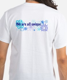 Snowflakes Collage Shirt: Back Design