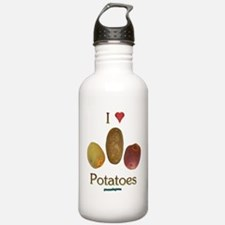 I Heart Potatoes Sports Water Bottle