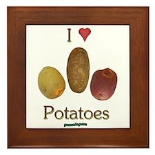I Heart Potatoes Framed Tile