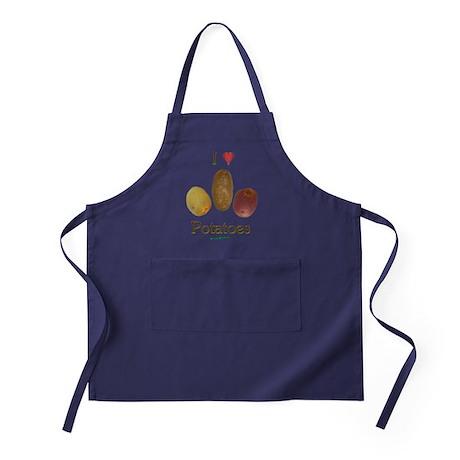 I Heart Potatoes Apron (dark)