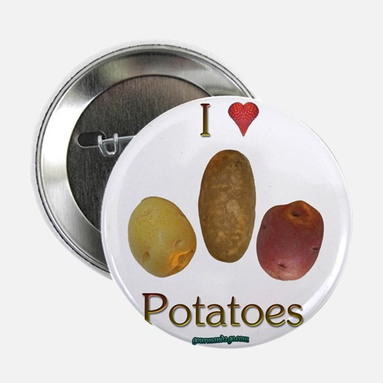 "I Heart Potatoes 2.25"" Button"