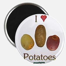 """I Heart Potatoes 2.25"""" Magnet (100 pack)"""