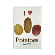 I Heart Potatoes Rectangle Magnet