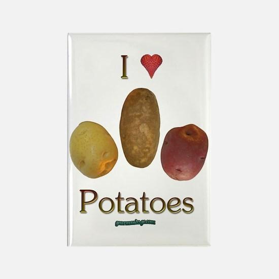 I Heart Potatoes Rectangle Magnet