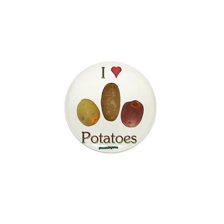 I Heart Potatoes Mini Button (100 pack)