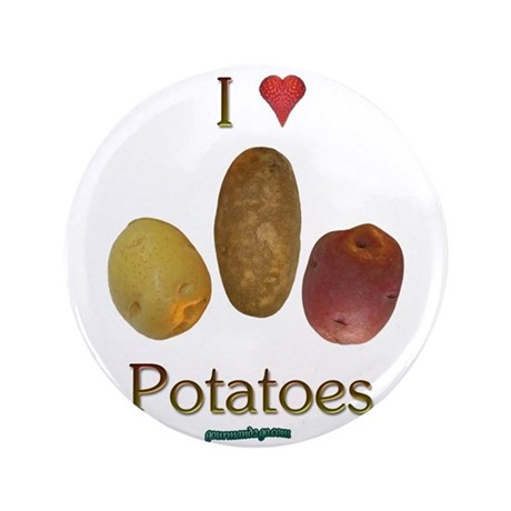 "I Heart Potatoes 3.5"" Button"
