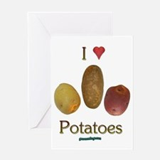 I Heart Potatoes Greeting Card