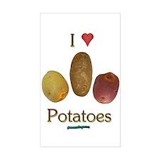 I Heart Potatoes Decal